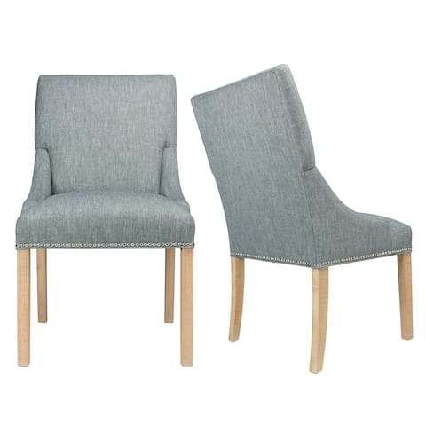 Marie Key Largo Ash Wood Upholstered Dining Chairs (Set of 2)