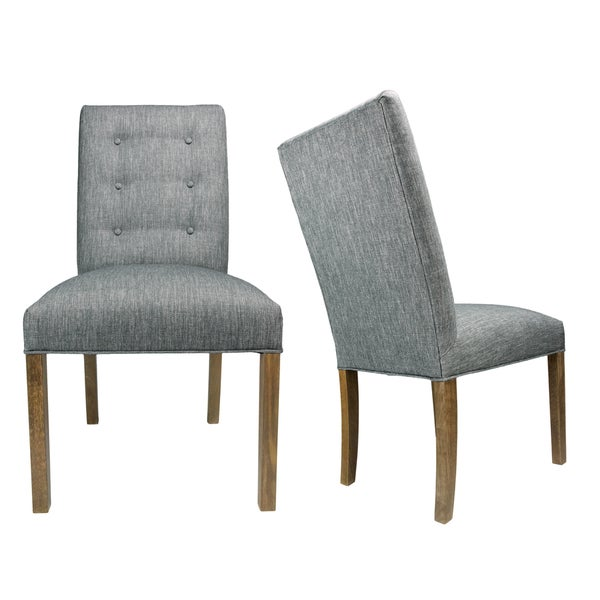 Shop Kacey Key Largo Walnut Legs Tufted Upholstered Dining