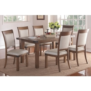 Helena Dining Set with 66-inch Table and Upholstered Chairs by Greyson Living