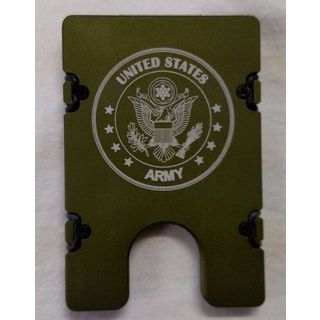 Green United States Army Aluminum Wallet/ Card Holder with RFID Protection