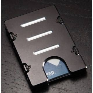 Black Standard Aluminum Wallet/ Card Holder with RFID Protection