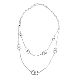 Sterling Silver 1/3CTtw Diamond Fashion Necklace