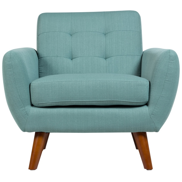 Sitswell Daphne Teal Mid Century Modern Tufted Chair