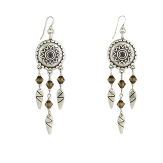 Southwest Women's Silver Bar Dangle Earrings