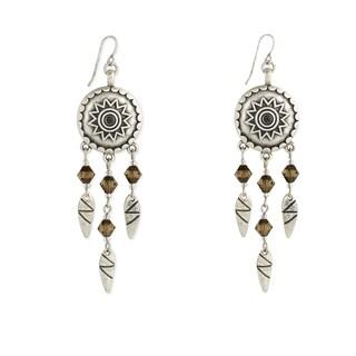 Southwest Women's Silver Bar Dangle Earrings