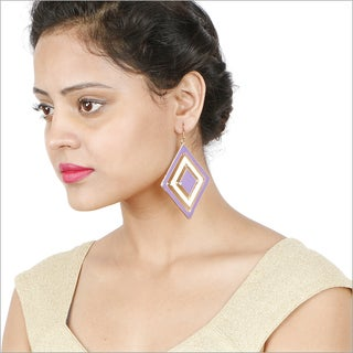 Liliana Bella Gold Plated Purple Fashion Dangle Earrings