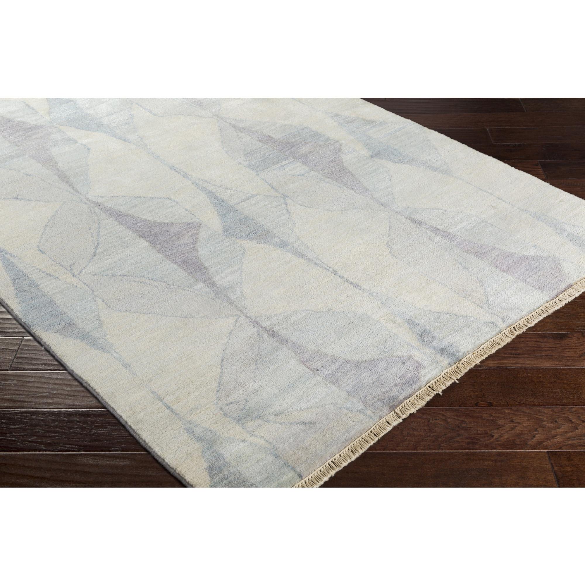 SURYA Hand-Knotted Burcham Wool Rug (6' x 9') (Cream (Ivo...