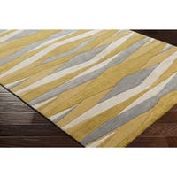 Strick & Bolton Sherrill Hand-Tufted Abstract Yellow Wool Area Rug - 3'3 x 5'3