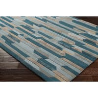 Strick & Bolton Sherrill Hand-Tufted Blue Wool Area Rug - 3'3 x 5'3