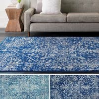 Ella Overdyed Vintage Medallion Area Rug