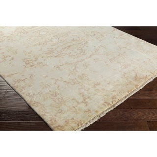 Hand-Knotted Burbank Wool Area Rug