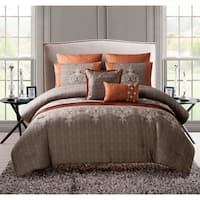 VCNY Grace 7-piece King Size Comforter Set in Spice (As Is Item)