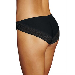 Maidenform One Fab Fit Cotton and Lace Stretch Tanga