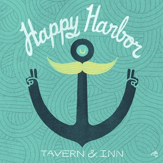 Wheatpaste Happy Harbor Tavern and inn Stretched Canvas Wall Art