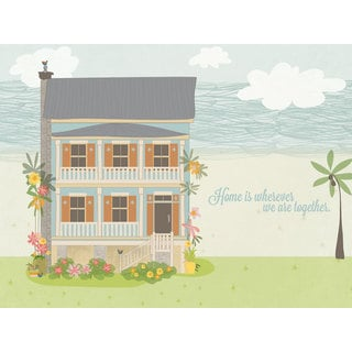 GreenBox Art + Culture 'Wherever We Are Together - Beach House' 24 x 18-inch Stretched Canvas Wall Art