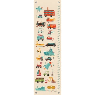 Oopsy Daisy Transportation A to Z Canvas Growth Chart
