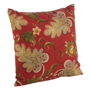 Flowering Vine Pattern Indoor/Outdoor Poly Filled Throw Pillow (4 options available)