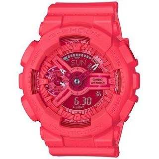 G-Shock Women's Analog-Digital S-Series Coral Resin Strap Watch 46x49mm GMAS110VC-4A