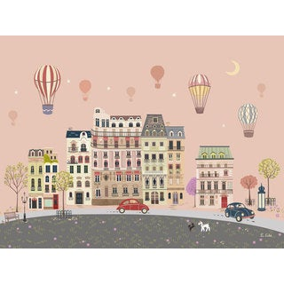 Oopsy Daisy Sweet Street Balloons at Dusk 24 x 18-inch Stretched Canvas Wall Art