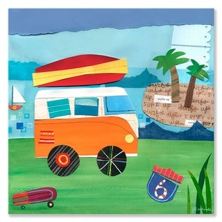 Oopsy Daisy Beach On the Road Stretched Canvas Wall Art