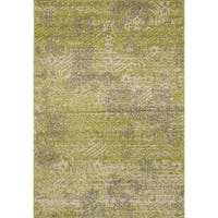 ecarpetgallery La Morocco Green Area Rug Shag - 6'5 x 9'5