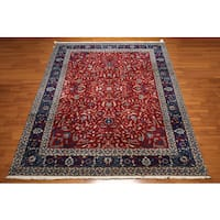 Hand-knotted Indian Tabriz Multicolor Wool Area Rug (9' x 12')
