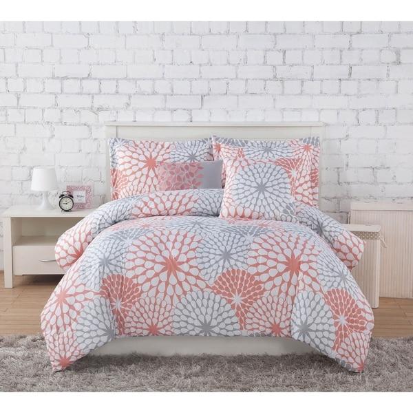 Studio 17 Stella Comforter Set - Coral/Grey. Opens flyout.