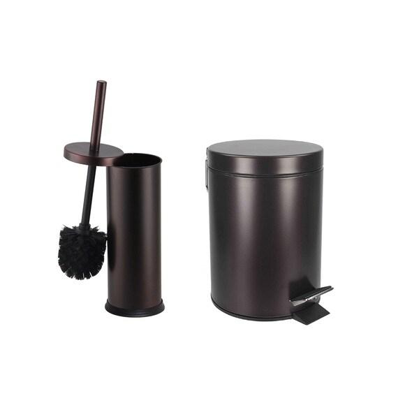 Home Basics Bronze Toilet Brush or Waste Bin (items sold separately)