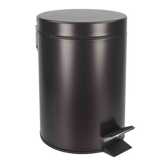 Home Basics Bronze Toilet Brush and Waste Bin Set