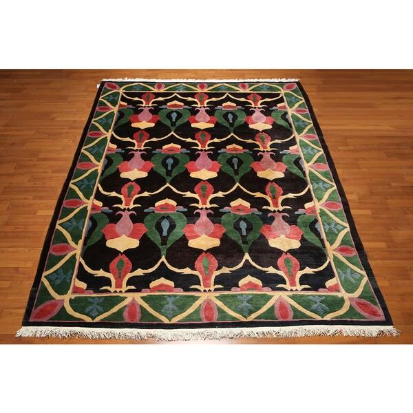Tufenkian Tibetan Hand Knotted Carpet Modern Area Rug 9 X27