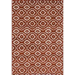 ecarpetgallery La Morocco Brown Area Rug Shag (5'2 x 7'5)