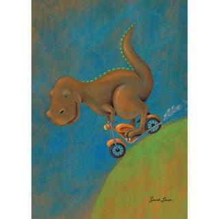 Oopsy Daisy 'Dinosaur Dash T-Rex' Stretched Canvas Wall Art