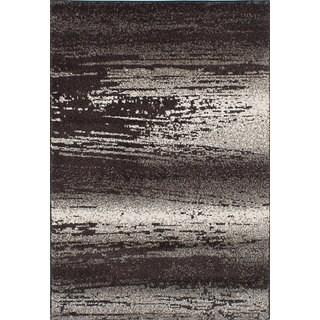 ecarpetgallery La Morocco Brown, Grey Area Rug Shag (5'2 x 7'5)