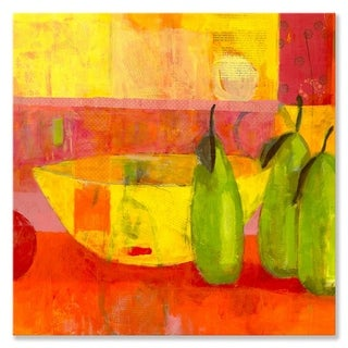 GreenBox Art + Culture 'Yellow Bowl' 30 x 30-inch Stretched Canvas Wall Art