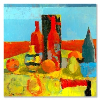 GreenBox Art + Culture 'Red, Red Wine' 24 x 24-inch Stretched Canvas Wall Art