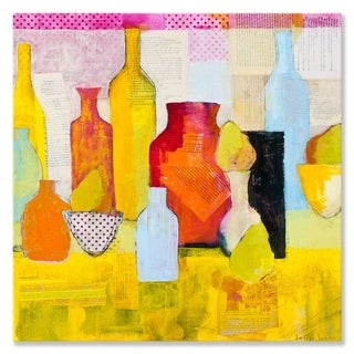 GreenBox Art + Culture 'Bottles and Pears' 24 x 24-inch Stretched Canvas Wall Art