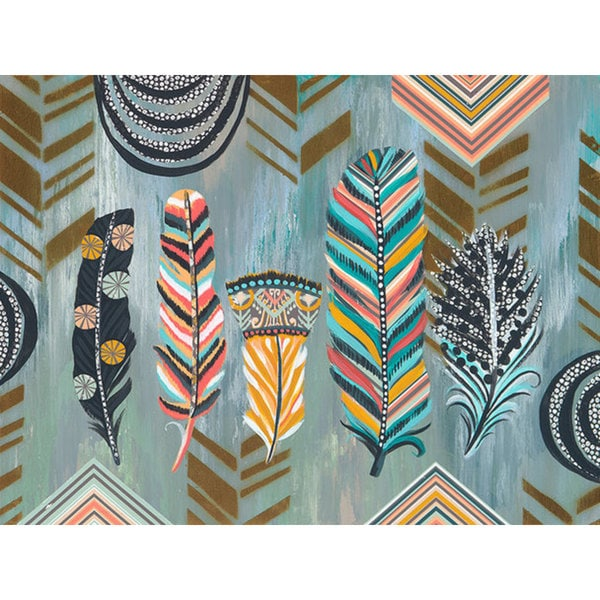 GreenBox Art + Culture 'Birds Of Many Feathers Sing Together' 24 x 18-inch Stretched Canvas Wall Art