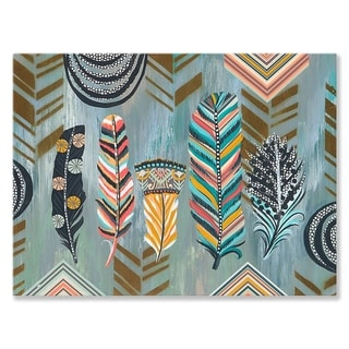 GreenBox Art + Culture 'Birds Of Many Feathers Sing Together' 18 x 14-inch Stretched Canvas Wall Art