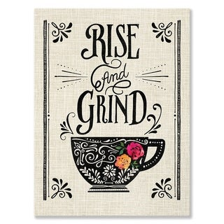 GreenBox Art + Culture 'Rise and Grind' 14 x 18-inch Stretched Canvas Wall Art