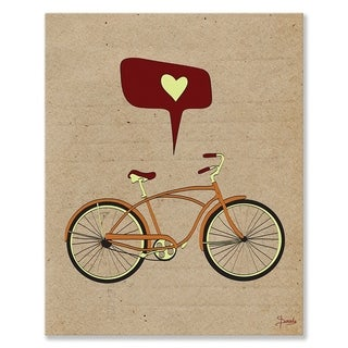 Wheatpaste I Love to Ride Stretched Canvas Wall Art
