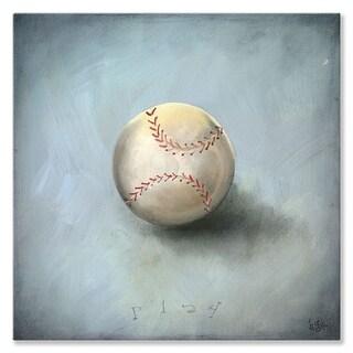 Oopsy Daisy 'Boy's Toys - Baseball' Stretched Canvas Wall Art