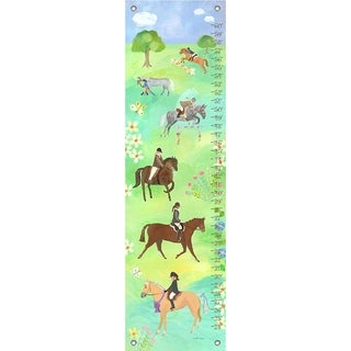 Oopsy Daisy Horse Show Canvas Growth Charts