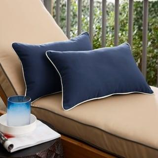 Copeland Sunbrella Navy Indoor/ Outdoor 13 x 20 Inch Corded Pillow Set