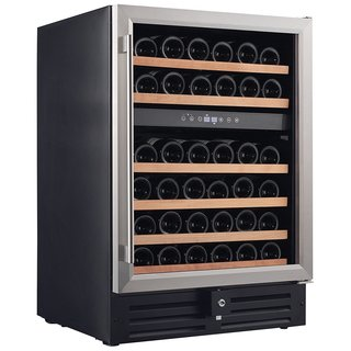 Smith & Hanks Stainless Steel 46 Bottle DualZone Wine Refrigerator