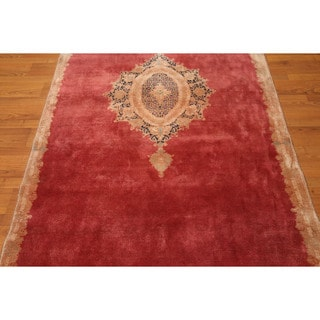 Persian Kerman Area Rug Full Pile Hand-knotted Pure Wool Oriental Rug (4'4 x 9'3)