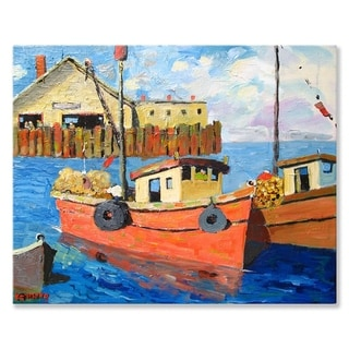 GreenBox Art + Culture 'Sunday Morning' 30 x 24-inch Stretched Canvas Wall Art