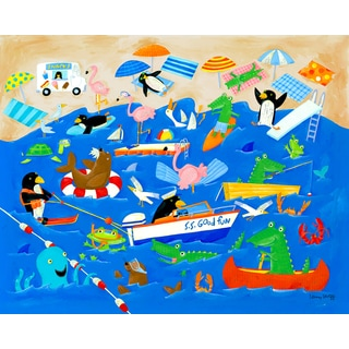 Oopsy daisy 'Beach Holiday' 30-inch Stretched Canvas Wall Art