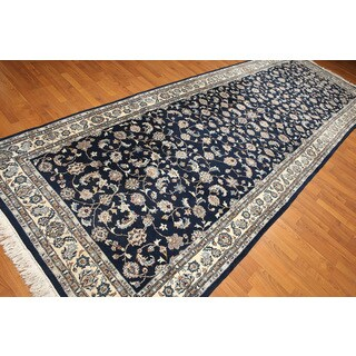 Indo Kashan Multicolor Wool Area Rug (5' x 13'11)