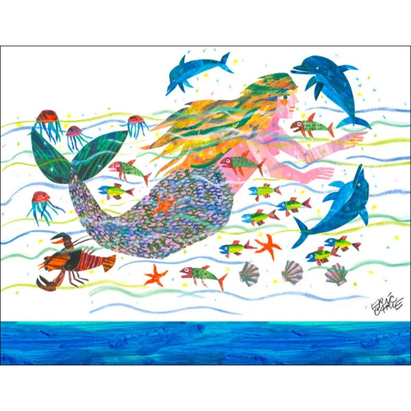 Shop Oopsy Daisy \'Eric Carle\'s Mermaid\' Stretched Canvas Wall Art ...