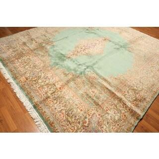 Persian Kerman Oriental Hand-knotted Wool Area Rug (9'7 x 10'3)